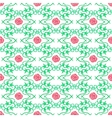 Watercolor seamless pattern with vintage floral vector image