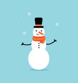 with snowman and snowflakes vector image