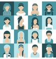 women icon set vector image vector image