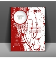 brochure or flyer with splashes of red paint vector image