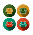 Flat round icons - people vector image
