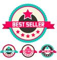 Best Seller Retro Flat Design Labels Set vector image