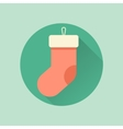 Happy New Year set of icons christmas sock vector image