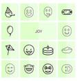 14 joy icons vector image vector image