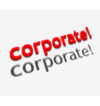 3d corporate text design vector image vector image