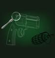 3d model of a pistol vector image