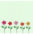5 flovers vector image
