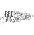 are loft beds bunk beds safe text word cloud vector image vector image