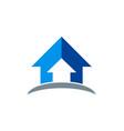 arrow up logo vector image vector image