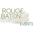 baton rouge campgrounds text background word vector image vector image