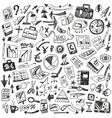 Business - big doodles set vector image vector image