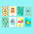 cards and banners in cartoon 80s-90s style vector image vector image