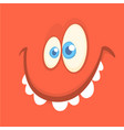 cartoon happy monster avatar smiling vector image vector image