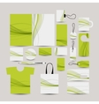 Corporate business style abstract design green vector image vector image