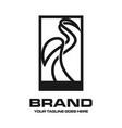 crane outline logo vector image
