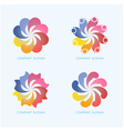 Creative abstract logo design vector image vector image