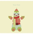 Cute Happy Snowman vector image vector image