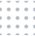 d letter icon pattern seamless white background vector image vector image
