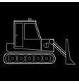 Dozer tractor construction road machinery vector image vector image