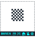 Empty chess board icon flat