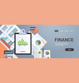 finance chart diagram business statistic concept vector image vector image