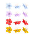 Flowers in different positions vector image