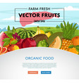 Fresh organic fruit poster