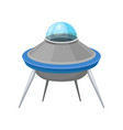 futuristic saucer shaped flying craft vector image