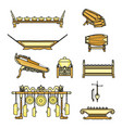 gamelan set with colour vector image vector image