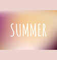 gradient pattern background with text summer vector image vector image