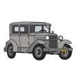 Gray vintage car vector image vector image