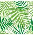 greenery palm leaves seamless pattern vector image vector image