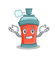 grinning aerosol spray can character cartoon vector image