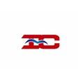 iC company logo vector image vector image