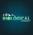 international day for biological diversity logo vector image