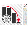 iota epic fail chart flat icon with bonus vector image vector image