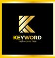 keyword logo letter k vector image vector image