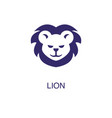 lion element in flat simple style on white vector image vector image