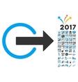 Logout Icon With 2017 Year Bonus Symbols vector image vector image