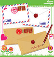 Love envelope - Valentine Scrapbook Elements vector image vector image