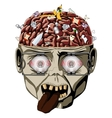 Media zombie brain vector image