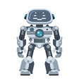 mighty android robot electronic artificial vector image vector image