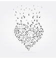 note heart vector image vector image