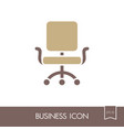 office chair outline icon business sign vector image vector image
