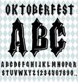 Oktoberfest font Ancient Gothic alphabet Vintage vector image vector image