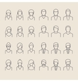 People icons line style vector image