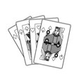 poker casino cards queen symbol vector image