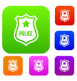 police badge set collection vector image