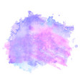 purple watercolor stain isolated on white vector image vector image