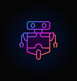robot line concept colorful icon on dark vector image vector image